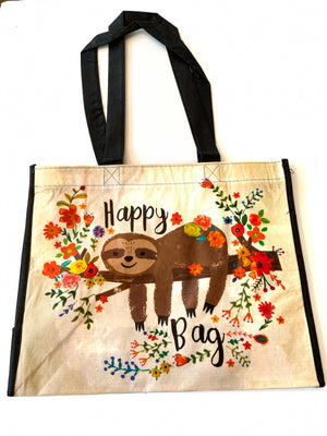 Recycled Plastic Giftbag (Large) - Happy Bag (Sloth)