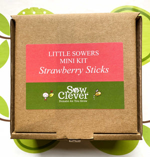 Sow Clever Little Sowers Mini Kits - Strawberry Sticks