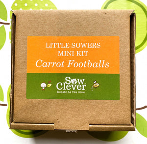 Sow Clever Little Sowers Mini Kits - Carrot Footballs