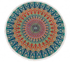 Fringed Cotton Yoga/Beach Round Mat