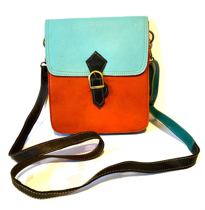 Recycled Leather Square Handbag