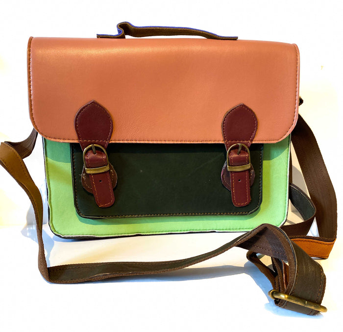 Recycled Leather Satchel