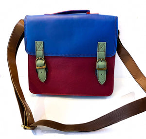 Recycled Leather Satchel Handbag - Large