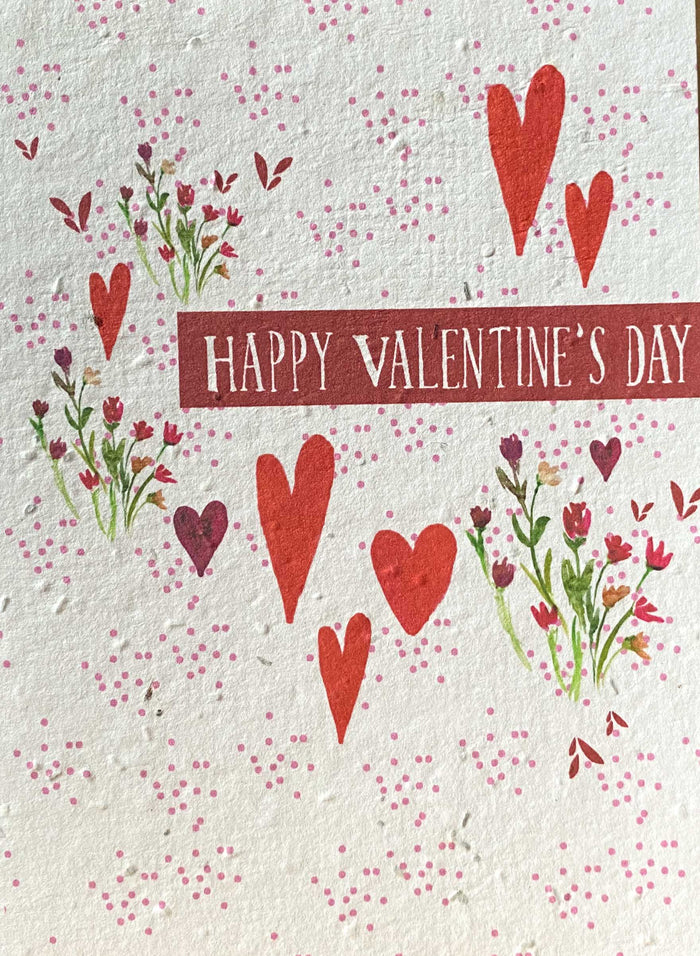 Plant a Card - Happy Valentines Day