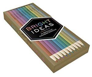 Bright Ideas Set of 10 Metallic Coloured Pencils