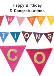 Handmade Paper Message Banner - Happy Birthday