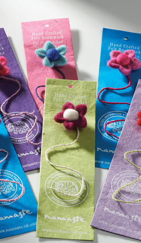Handmade Felt Flower Bookmarks