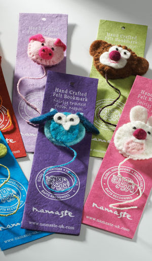 Handmade Felt Animal Bookmarks