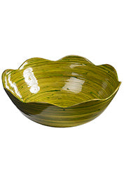 Lacquer spun bamboo Waves salad bowl