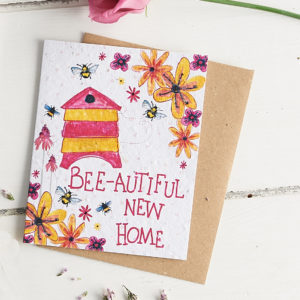 Plant a Card - Bee-autiful New Home