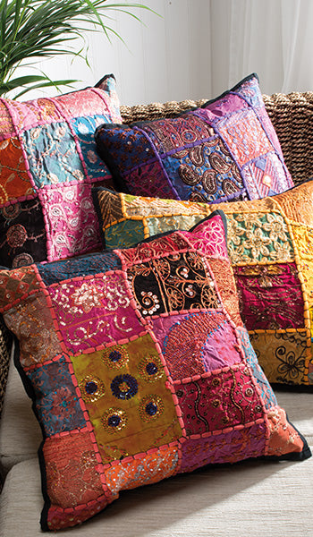 Ari Patchwork Cushions - Choice of 4 colours