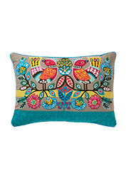 Exotic Birds Cushion - 35cm x 50cm