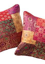 Brocade patchwork cushions - variety of colours. 40cm x 40cm