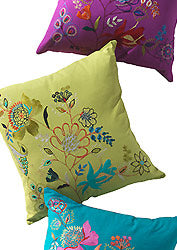 Large embroidered cushion - 60cm x 60cm