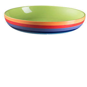 Rainbow Stripe Ceramic Pasta Bowl