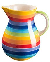 Rainbow Stripe Ceramic Large Jug