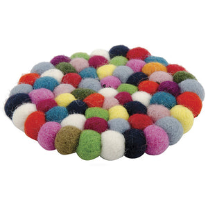 Rainbow Felt Ball Coaster