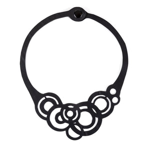 Circles Recycled Inner-tube Necklace