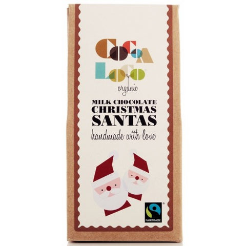 Organic Fairtrade Milk Chocolate Santas