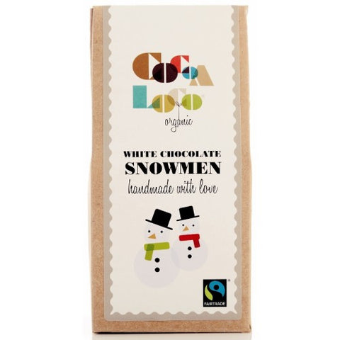 Organic Fairtrade White Chocolate Snowmen