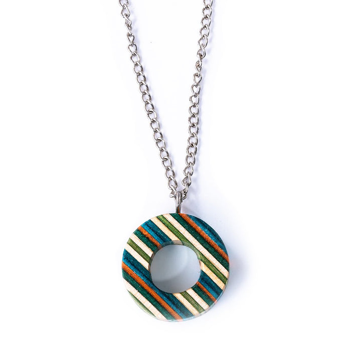 Donut Up-cycled Skateboard Necklace