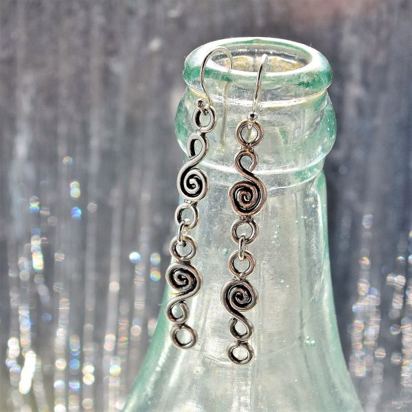 Luna Tree Silver Jewellery - Adele Spiral Earrings