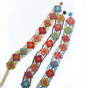 Embroidered Beaded Hmong Bracelet