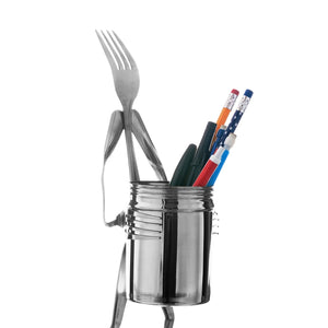 Up-cycled Cutlery:  Pencil pot - fork