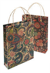 Flower/Paisley design recycled gift bag