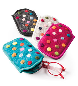 Spotty Felt Glasses Case