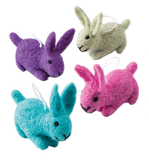 Cute Felt Easter Bunny Decorations - Choice of 4 colours
