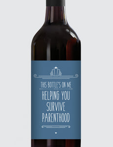 Message Bottle Labels - Helping You Survive Parenthood