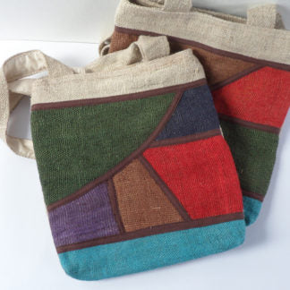 Multi-coloured Hemp Shoulder Bag