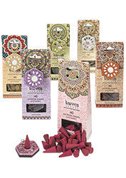 Karma incense cones with holder - choice of 6 fragrances