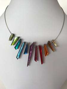 Rainbow Icicle necklace