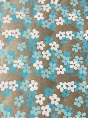 Ultimately Sustainable Wrapping Paper - Blue/White Floral