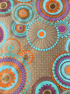 Ultimately Sustainable Wrapping Paper - Turquoise/Orange Oriental
