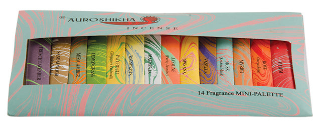 Auroshikha Mini Incense Stick Palette - 14 Fragrances