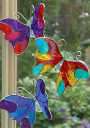 Butterfly resin suction cup light-catcher - Choice of 3 colours