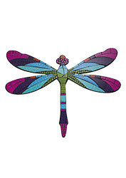 Mosaic dragonfly wall art