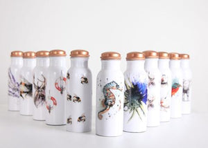 H2O Copper Water Bottle - Choice of 6 Designs