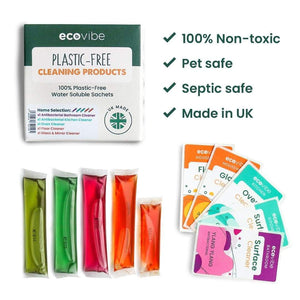 Plastic Free  Soluble Antibacterial Cleaners - Mixed Pack
