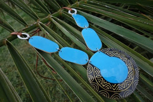 Totumo fruit necklaces - Mucura Blue