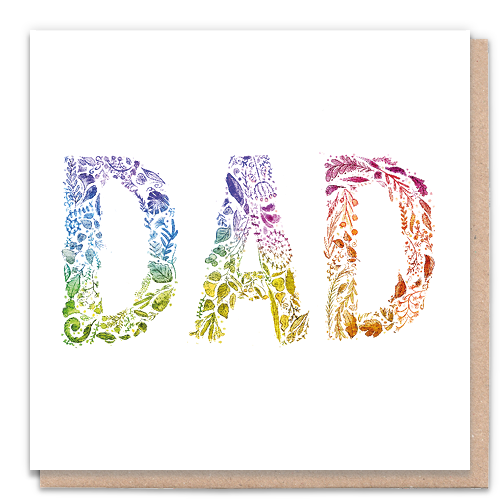 Rainbow Dad Card
