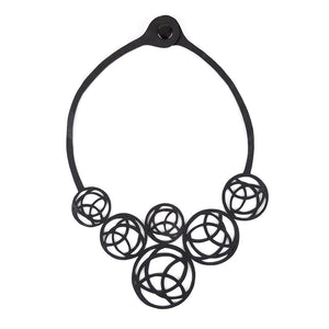 Neptune Recycled Inner-tube Necklace