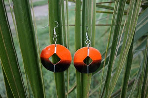 Totumo fruit earrings - Setentas Orange