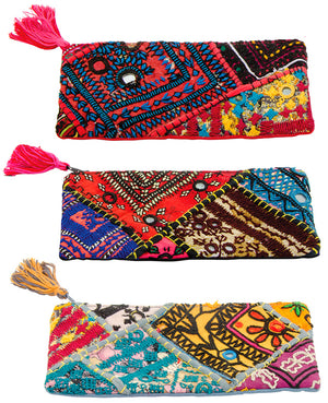 Patchwork Fabric Make-up purse/Pencil Case