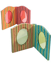 Funky Fabric-covered Double Photo Frame - Choice of 2 colours
