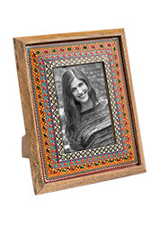 Hand-painted Embellished Indian Photo Frame