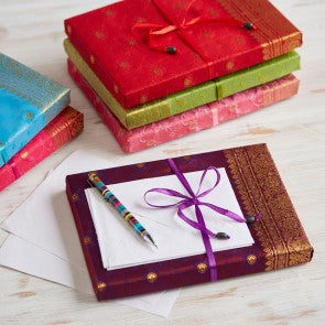 Sari stationery set - choice of 5 colours